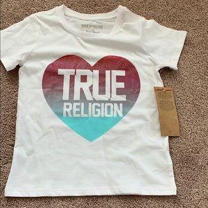 Girl 6 6X toddler true religion short sleeve shirt